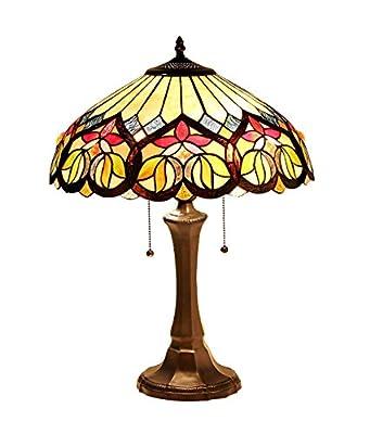 Chloe Lighting CH33448AV16-TL2 Tiffany Kastor, Tiffany-style Victorian 2 Light Table Lamp 16-Inch Shade, Multi-colored