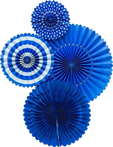 My Mind's Eye Basic Party Fans - Blue