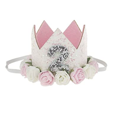 92be64db0 Kicode Hair Band Crown Rose Edge Baby Cute Clasp Lovely Party Photo  Performance Headwear Accessory