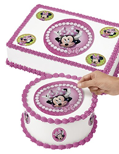 Wilton 71-6362 Minnie Mouse Edible Images Cake Decorating Kit, Multicolor -
