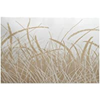 E by design RFN482WH1TA9-23 Sea Grass 1, Floral Print Indoor/Outdoor Rug, , 2 x 3, Brown/Taupe