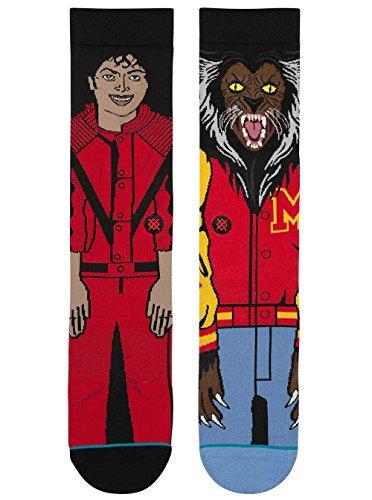 Stance Men's Michael Jackson Socks (Red, Large)