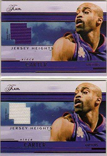 2002-03 Flair Jersey Heights #JHVC Vince Carter Game-Worn Jersey Card - Toronto Raptors