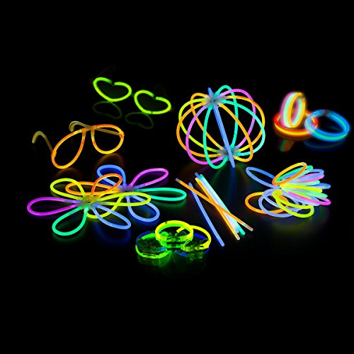Glow Sticks OUTUNG Bracelets Mixed Colors,100 Pieces 8