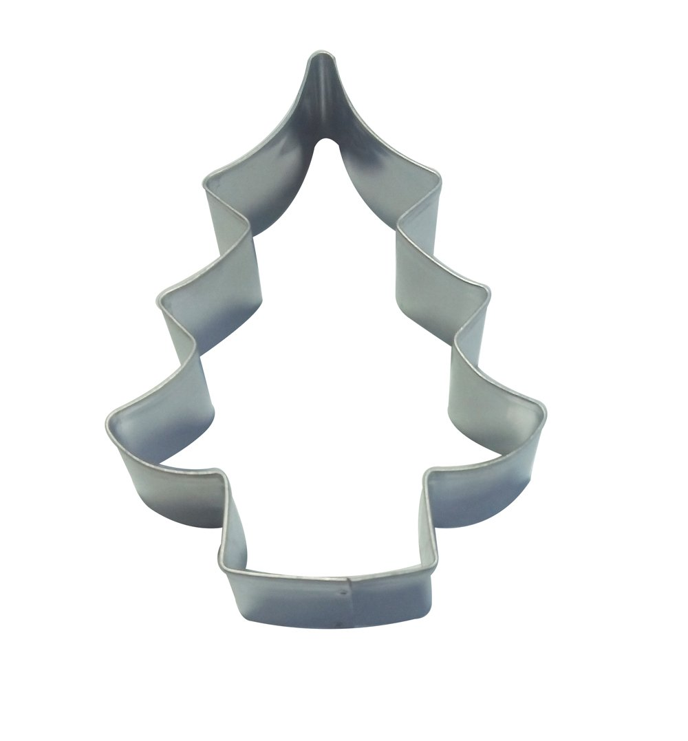 DeColorDulce Christmas tree-shaped Biscuit Cutter, Stainless Steel, Silver, 13x 10x 3cm Silicone Gold SG1126