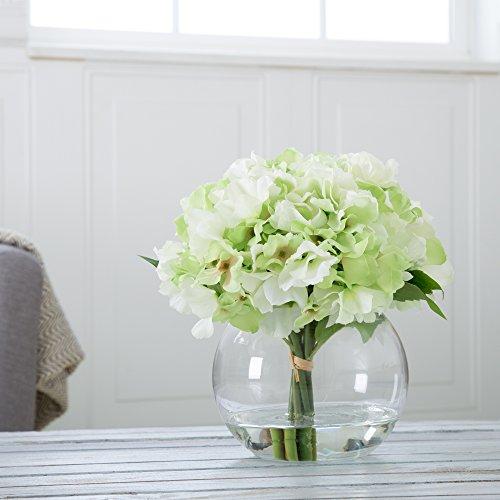 Amazon Pure Garden Hydrangea Floral Arrangement With Glass Vase