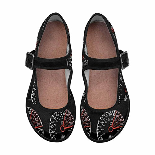 InterestPrint Womens Comfort Mary Jane Flats Casual Walking Shoes Multi 2 5SbsNf2NII