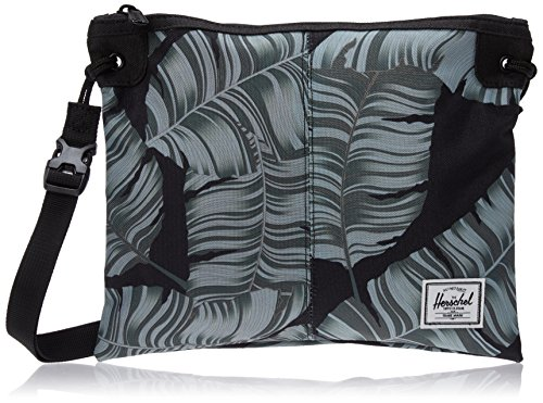 Herschel Supply Co. Alder Cross Body Bag, Black Palm/Black, One Size by Herschel Supply Co.
