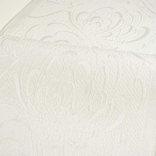 ふくれ織り半衿(半襟) 菊?オフホワイト 結婚式 成人式 フォーマル