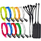 EL Wire, ESCOLITE EL Wire Kit Neon Lights with Battery Pack for Christmas