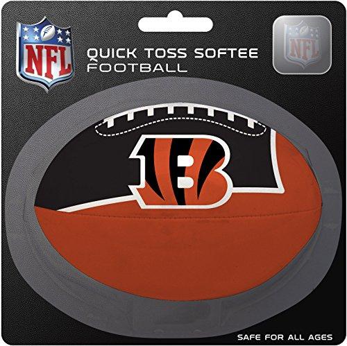 Polyester Nfl Football (NFL Cincinnati Bengals Kids Quick Toss Softee Football, Orange, Small)