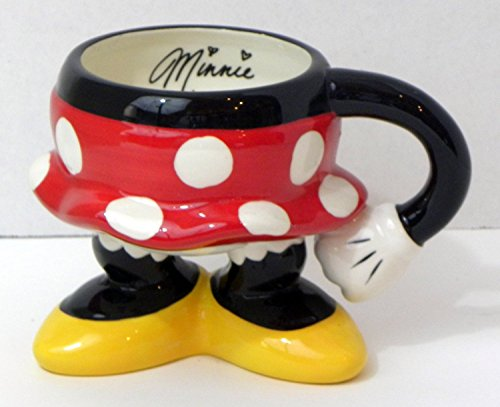 Disney Theme Parks Exclusive Minnie Mouse Body Parts Pants Ceramic Coffee Mug