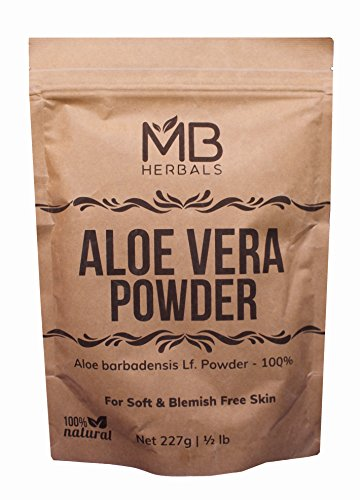 MB Herbals Aloe Vera Powder 227g | Half Pound | 100% Pure & Organically Cultivated | Natural Skin Moisturizer | Controls Blemish Acne Pimples & Fine Lines For Sale
