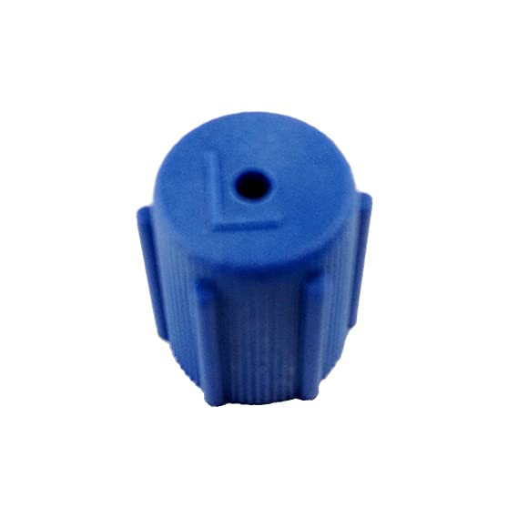 MagiDeal 4 Pieces AC Air Conditioning Service Port R134a Side Air Conditioner Cap 13mm Blue /& 16mm Brown Conversion Kit