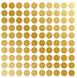 Polka Dot Wall Decal Nursery Kids Room Peel and Stick Removable Sticker Circle Pattern Decor #1326 (2″ (100 Dots), Gold) Picture