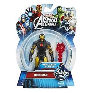 Iron Man Repulsor Blast Gold/Black Avengers Assemble All-Star Action Figure by Hasbro