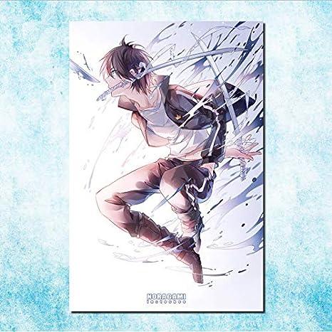Haoziggdeshoop Noragami Yato Yukine Anime Art Silk Canvas Poster Print Inches Pictures For Room Decor A61 Küche Haushalt
