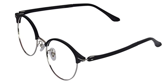 db5a035bd9 LensPort Round Black Unisex Eyeglasses Frames For Mens Womens Girls ...