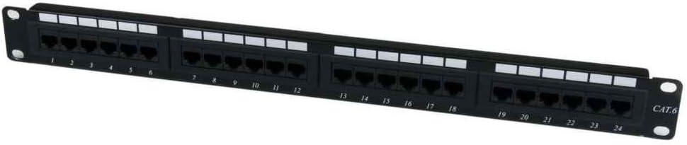 Fornateu 24 Ports Cat6 Ungeschirmt Distribution Frame Wandsprech Rackmount Patch Panel Ports Kabelnetzwerkanwendungen