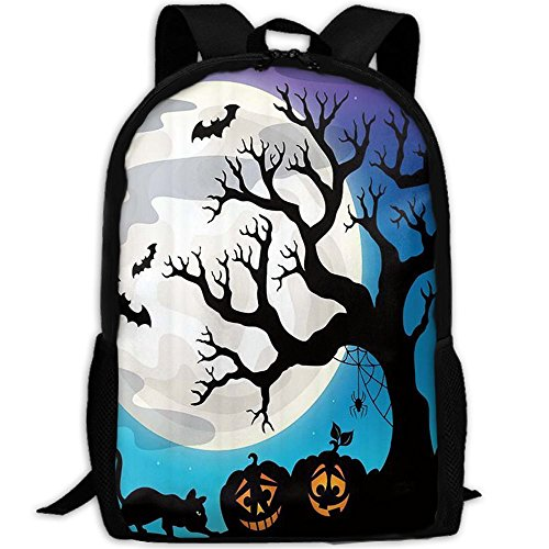 DzV7yyPo Halloween Party Travel Backpack, Water Resistant Durable