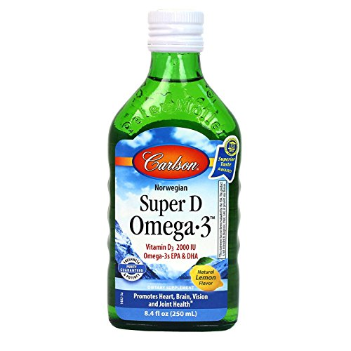 Carlson Omega 3 Natural Vitamin Bottle