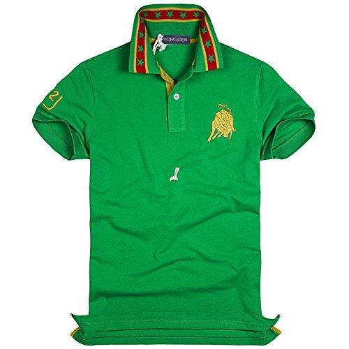 HYDROGEN ポロシャツ メンズ ゴルフ コットン 綿 100% 半袖 夏 プリント18726799 [並行輸入品]
