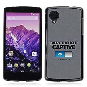 YOYO Slim PC / Aluminium Case Cover Armor Shell Portection //CORINTHIANS 10:5 CAPTIVE //LG Google Nexus 5