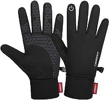 Anqier Handschuhe Herren, Winter Warme Handschuhe Damen Touchscreen Handschuhe Fahrrad Winddichte Handschuhe Anti-Rutsch...