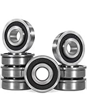 "8pcs Flanged Ball Bearing ID 1/2"" x OD 1-3/8"" for Lawn Mower, Wheelbarrows, Generators, Carts & Hand Trucks Wheel Hub, Replacement for Marathon, Stens, Sunbelt, Prime Line, Exmark"