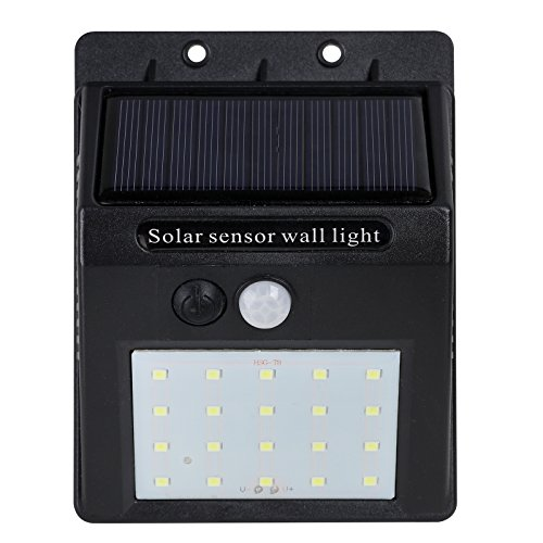 Nada LED, Solar Lights, Outdoor, Wireless, Motion Sensor, Waterproof, Security, Wall Lights, Flood Light, for Front Door, Back Yard, Garage (Single) from Nada
