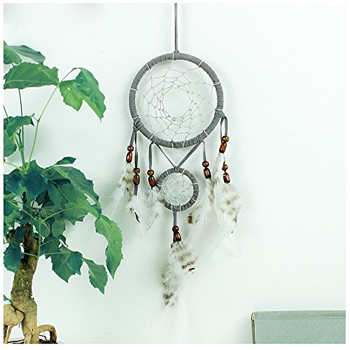 WCHUANG Gray Dream Catcher Car Home Wall Hanging Ornament Wedding Party Favor, Baby Shower, Birthday Gift