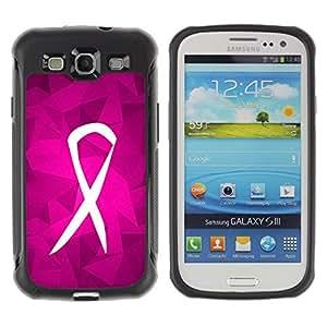 LASTONE PHONE CASE / Suave Silicona Caso Carcasa de Caucho Funda para Samsung Galaxy S3 I9300 / Fight Purple Pink Charity Support