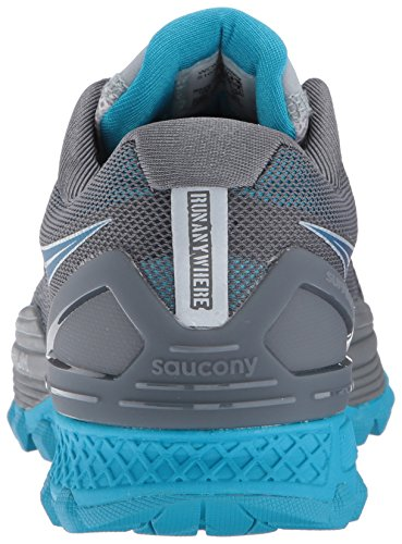 Saucony Kvinna Xodus Iso 2 Spring-skor Gråblå
