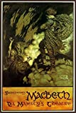 """MACBETH SHAKESPEARE DARK TRAGEDY AT HIS MAJESTY'S THEATER 12"""" X 16"""" VINTAGE POSTER REPRO"""