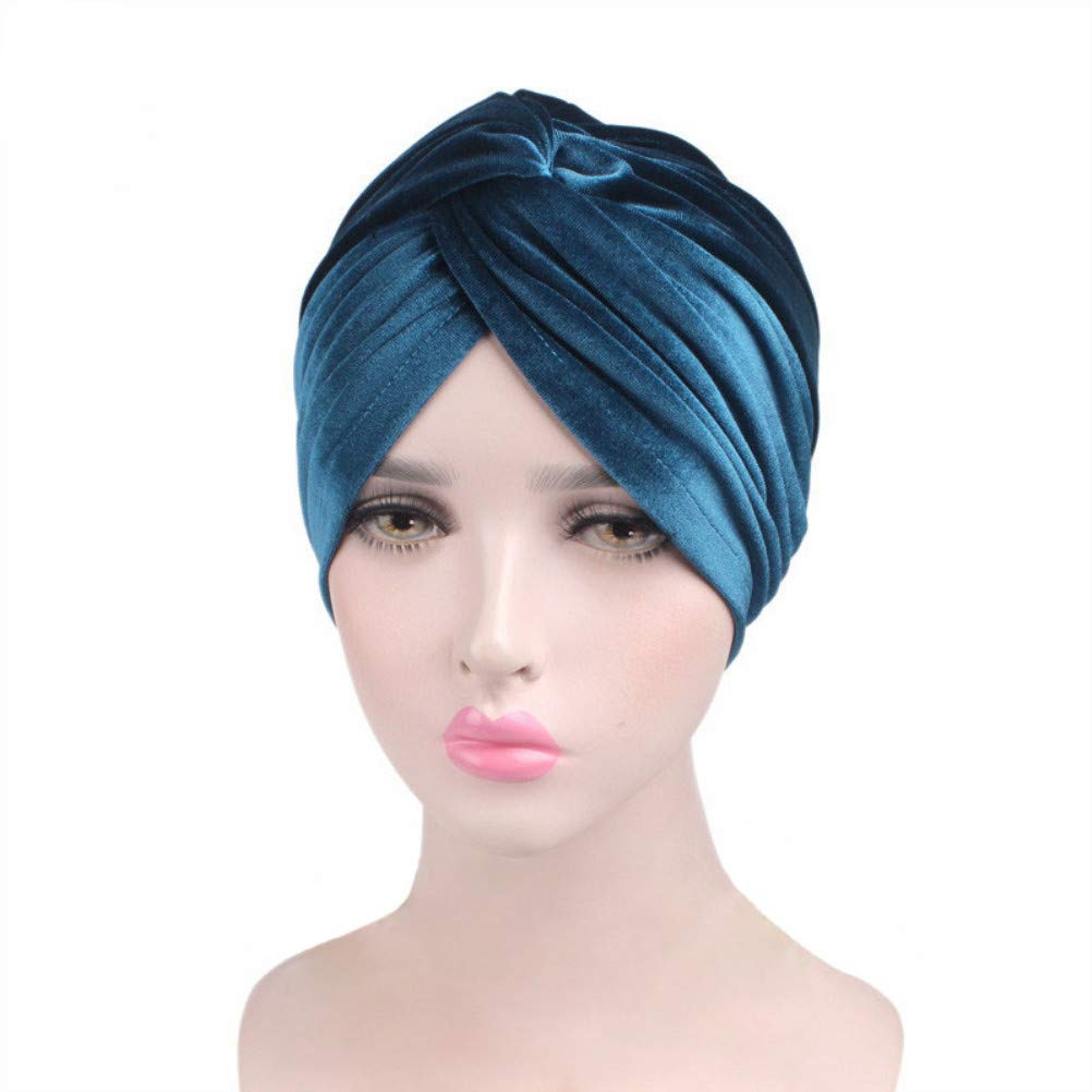 Madison Headwear Turban Headwraps for Women with African Knot /& Woven Lurex Thread for Extra Glimmer and Comfort for Cancer