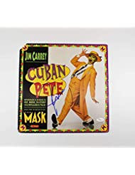 Jim Carrey Mask 'Cuban Pete' Signed Record Album LP Certified Authentic JSA COA