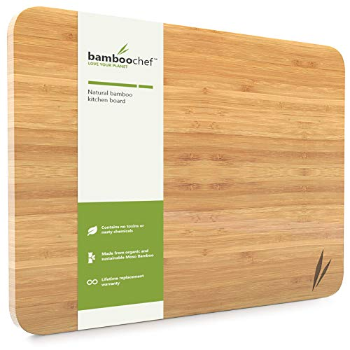 (Extra Large Bamboo Cutting Board for Kitchen & Dish Drying Tray | Wooden Chopping Board | Wood Cutting Board | Simple Dish Drainer)