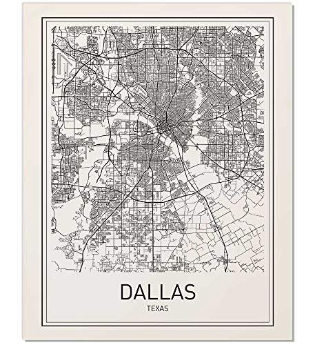 Amazon.com: Dallas Map, City Maps, Dallas Map Poster, Map Print