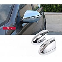 Baodiparts ABS Chromed Car Side Mirror Rearview Cover Trims Rain Wing Mirror Protector Replace Cover Cap 2-pc Set