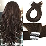 Cheap Moresoo 18 Inch Tape in Extensions Remy Hair Seamless Skin Weft 100 Grams #4 Chocolate Brown Tape on Hair Extensions Straight Hair Extensions Thick 40 PCS Tape Hair Extensions