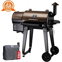 Z Grills ZPG-450A 2018 Upgrade Model, Wood Pellet Smoker, 7 in 1 BBQ Auto Temperature Control, 450 sq Inch Deal, Bronze and Black