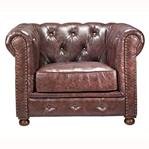 Rustic looking tufted chair