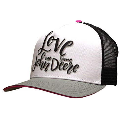 John Deere Brand Love Black Adjustable Hat - 23080455BK