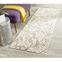 Safavieh Amherst Collection AMT425S Wheat and Beige Indoor/ Outdoor Runner (23 x 9)
