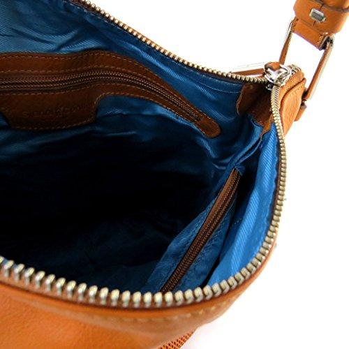 Gianni Conti [N6096] - Sac cuir 'Gianni Conti' orange paprika - 29x27x17 cm