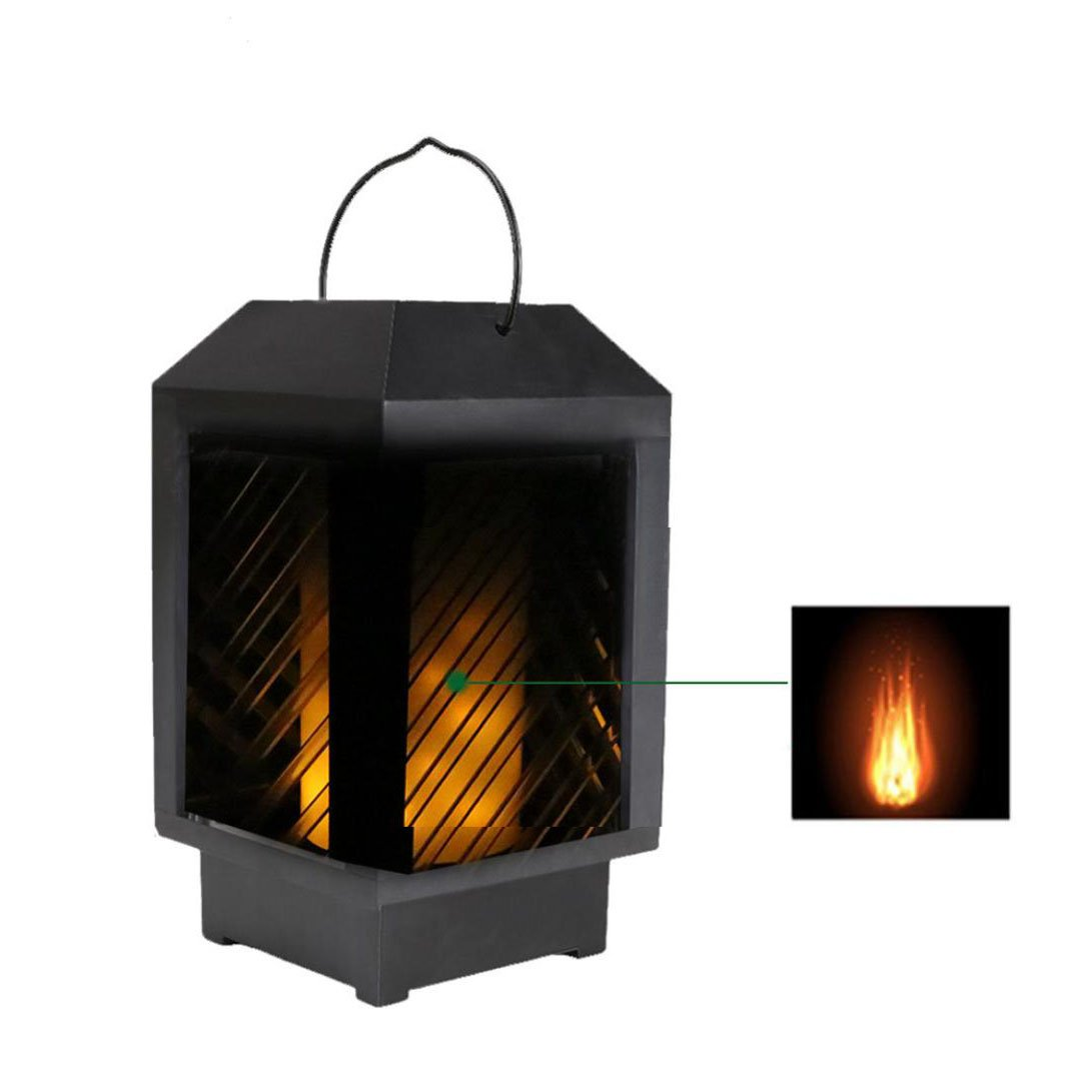 Sacow Flames Light, Solar Powered Flames Light Outdoor Garden Yard Wall Fence Pathway Gutter Lamp