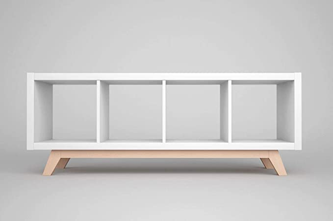 New Swedish Design Kallax - Estante de madera para estantería de 4 pisos (madera de haya)