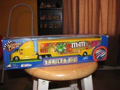 Elliott Sadler #38 Groovy Summer MMs M&Ms Hauler Trailer Rig Semi Truck Tractor Trailer Transportor 1/64 Scale Winners Circle Edition Metal Cab Plastic Trailer