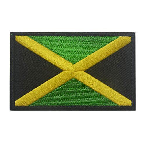 Jamaica Flag Patch Embroidered Military Tactical Flag Patches