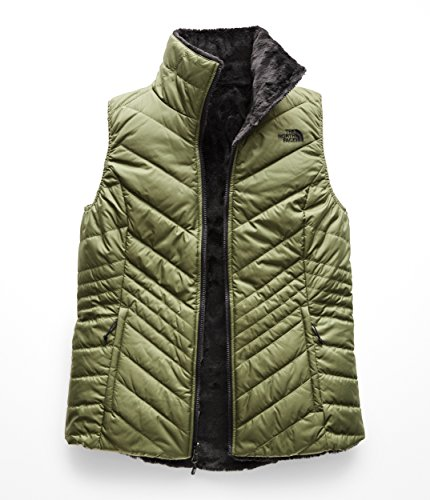 The North Face Women's's Mossbud Insulated Revesible Vest - Four Leaf Clover & Weathered Black - ()